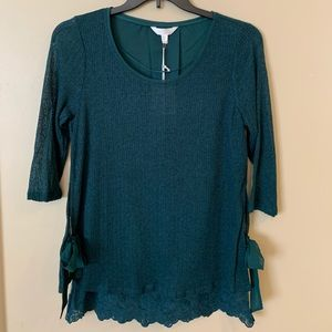 NWT LC Lauren Conrad Emerald top